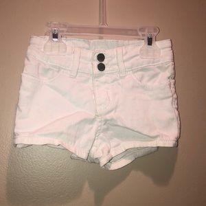 White gap jean shorts size 2